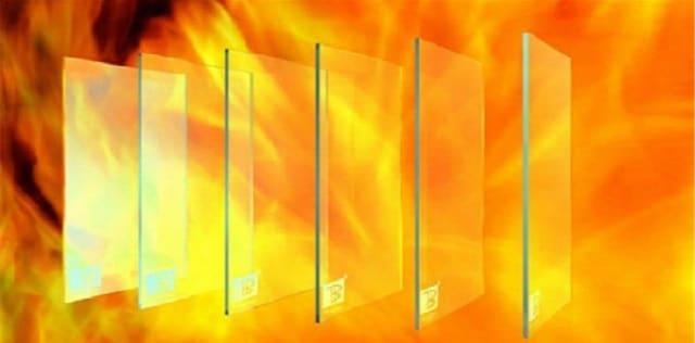 kính cường lực chống cháy