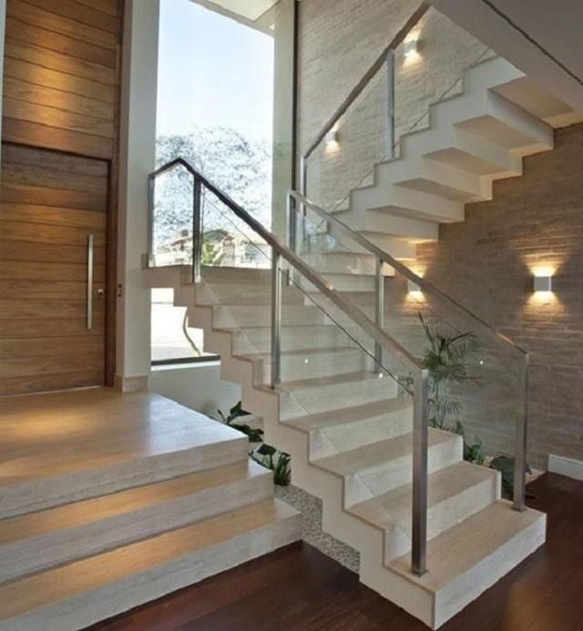 15+ mẫu thiết kế cầu thang kính cường lực đẹp - giá tốt