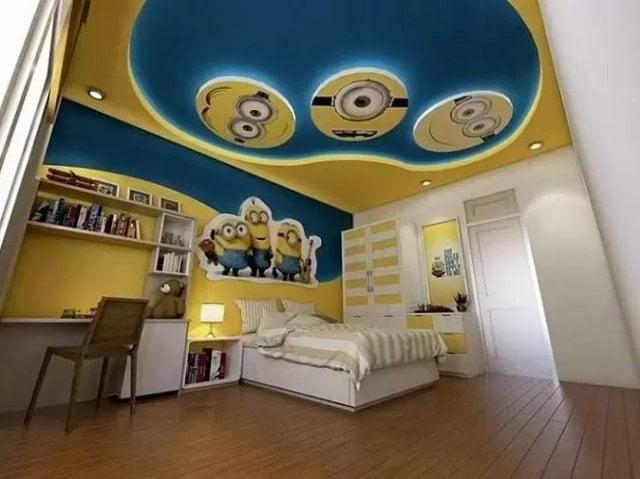 trần thạch cao phòng ngủ trẻ em