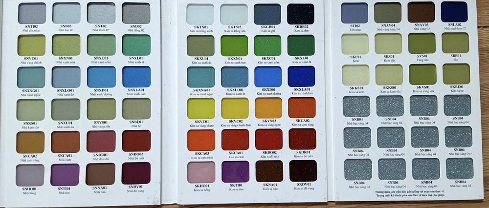 Bảng màu cho kính Ốp Bếp chính hãng - giá rẻ