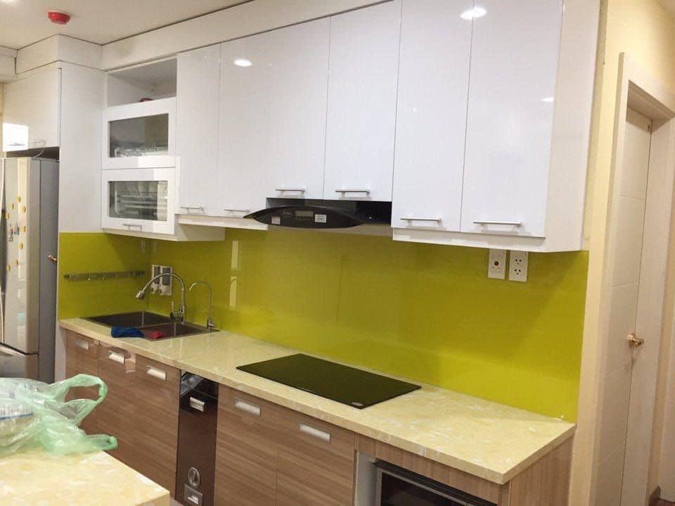 Tổng hợp các mẫu kính ốp bếp màu vàng đang có tại Best Decor