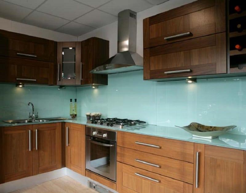 Top mẫu kính ốp bếp màu xanh đẹp - Hot nhất 2021