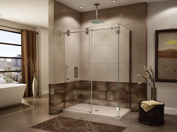 Top 20 mẫu phòng tắm kính cửa lùa đẹp nhất 2021