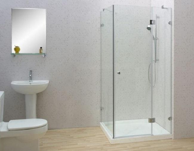 Kích thước phòng tắm kính - Cabin tắm kính đứng chuẩn là bao nhiêu?