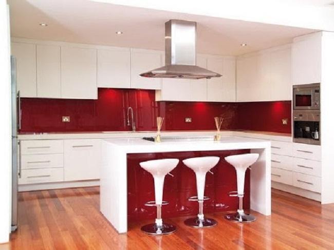 Kính Ốp Bếp Màu Đỏ - Mẫu Kính Bếp Đẳng Cấp 2021