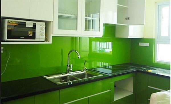 Kính Ốp Bếp Màu Xanh Lá Cây - Mẫu Kính Bếp HOT Nhất 2021