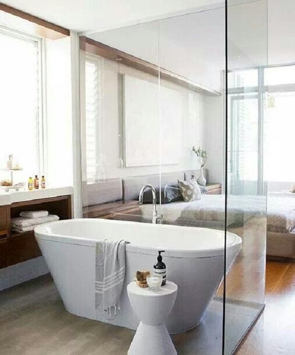 Vách Kính Bồn Tắm Nằm - Xu Hướng Thiết Kế Phòng Tắm Hiện Đại