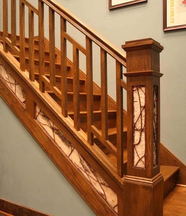 mẫu cầu thang gỗ vuông